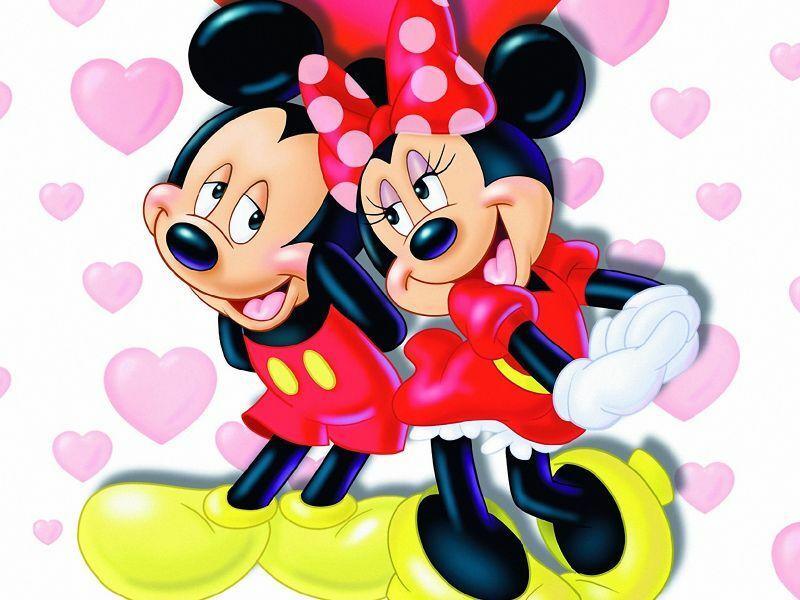 Imágen de amor de Minnie y Mickey enamorados