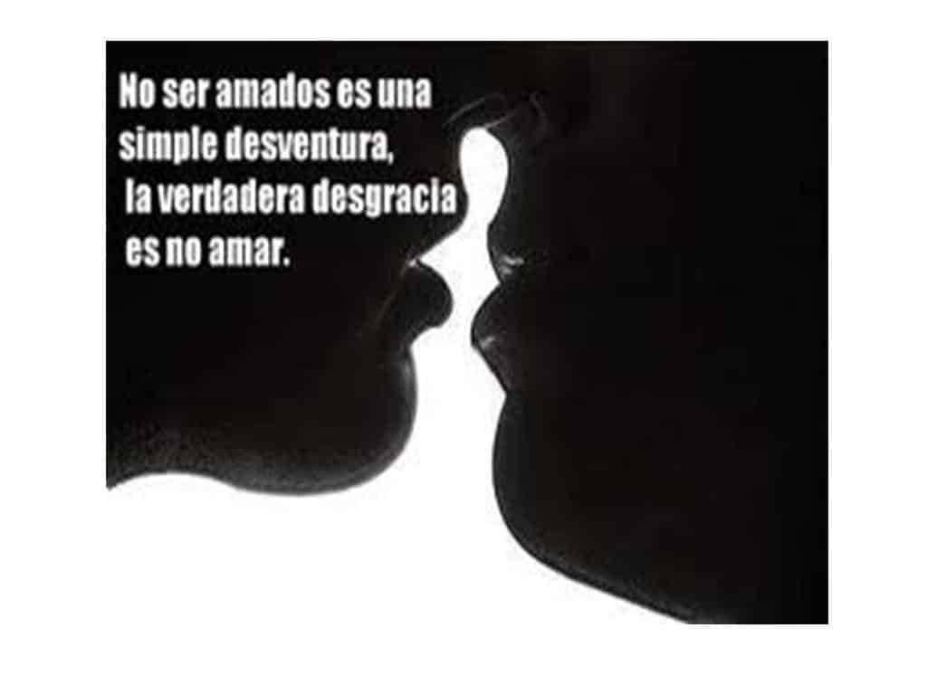 Imágen de amor despechado no ser amado es una simple desventura