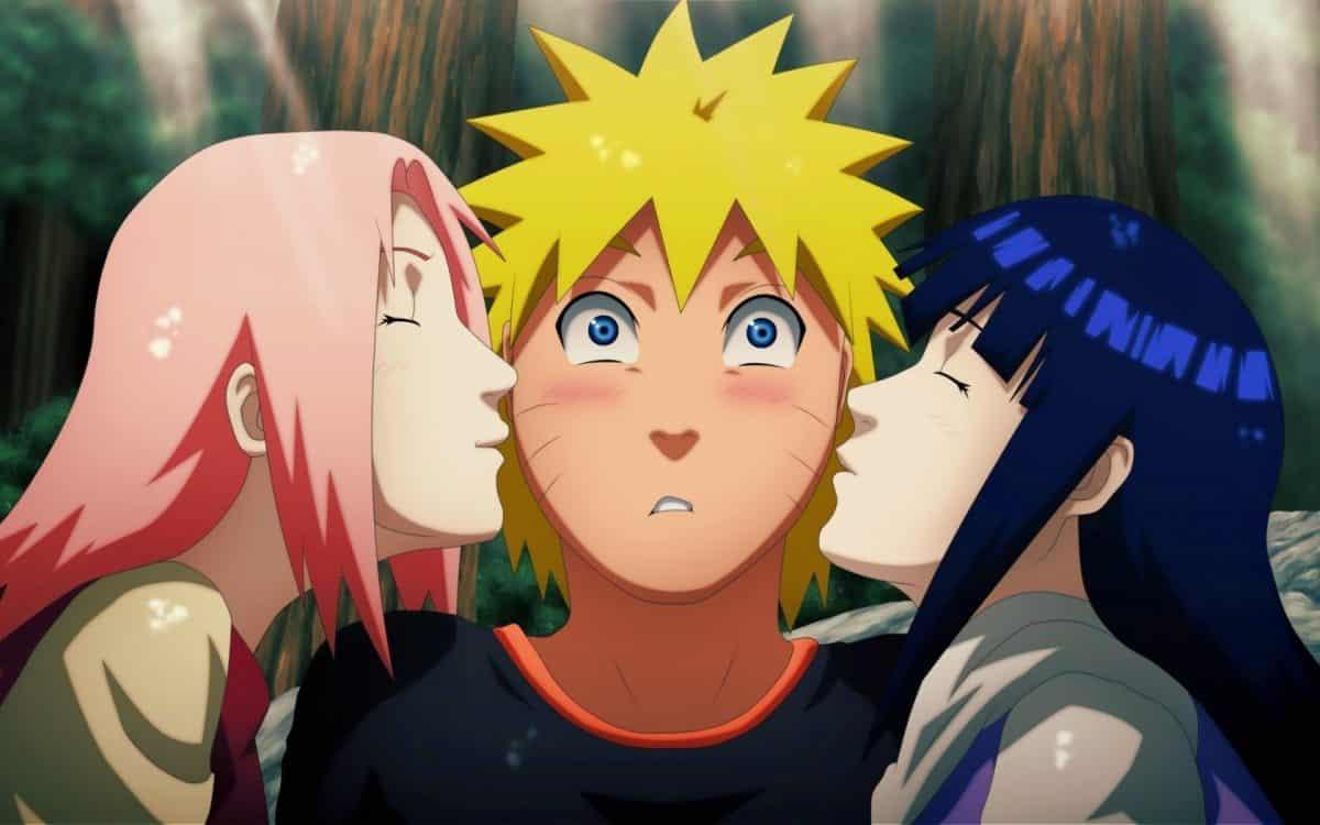 imagenes de amor anime naruto besado por 2 chicas