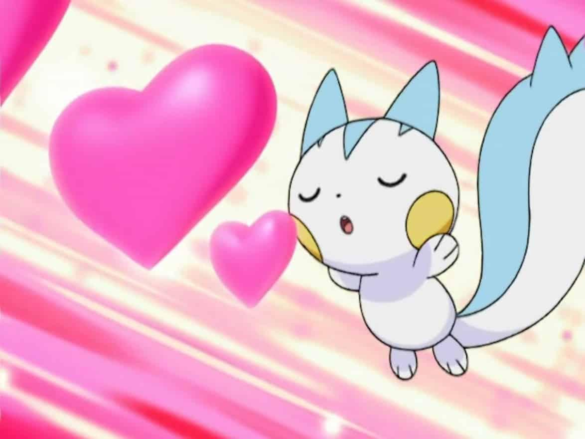 imagenes de amor anime pokemon pachirisu atacando con beso dulce