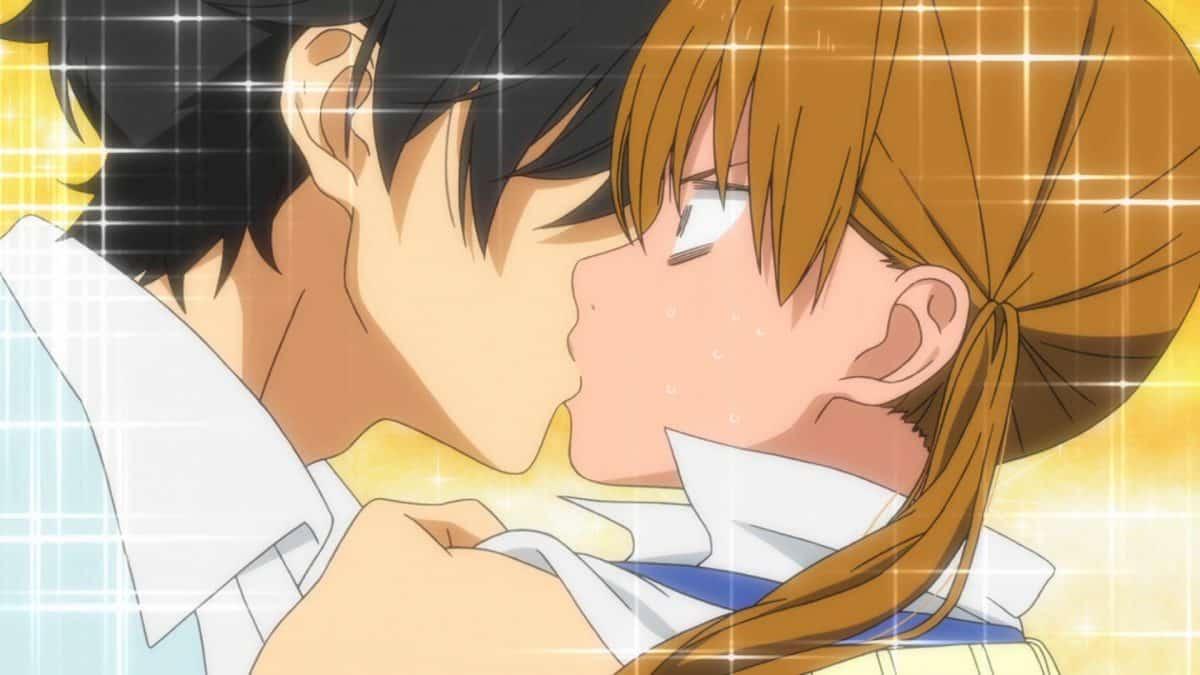 imagenes de amor anime tonari no kaibutsu kun haru besando a shizuku