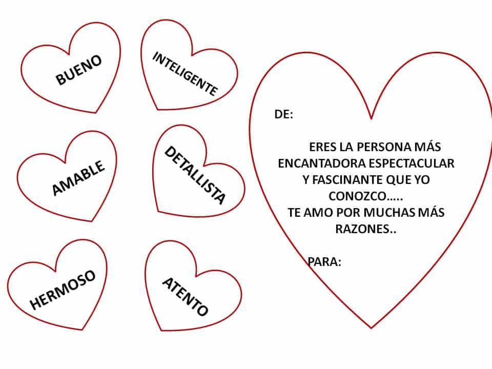 imágenes de amor con frases para colorear