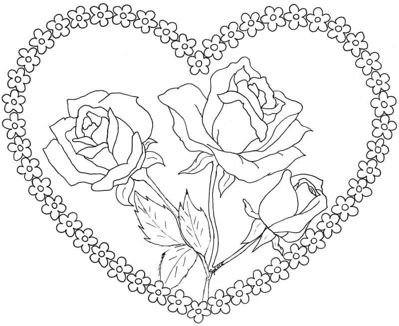 imágenes de amor con rosas para dibujar corazón con rosas