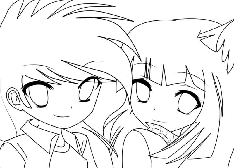 imágenes de amor para dibujar animes
