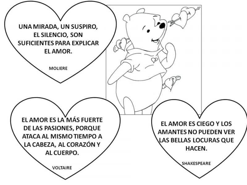 imágenes de amor para dibujar con frases bonitas winnie the pooh
