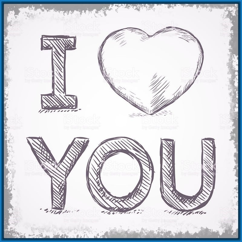 imágenes de amor para dibujar frase i love you