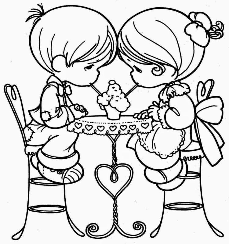 imágenes de amor para dibujar para mi novia 2 niños compartiendo helado