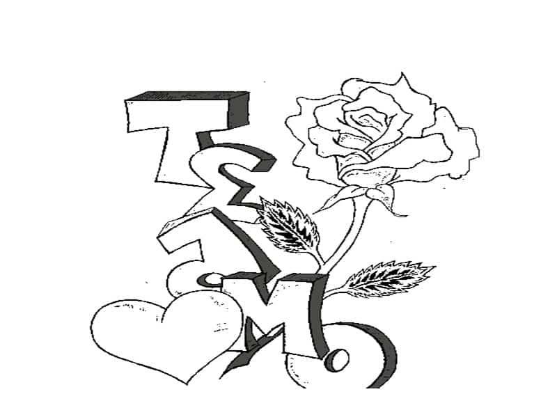 imágenes de amor para dibujar que digan te amo