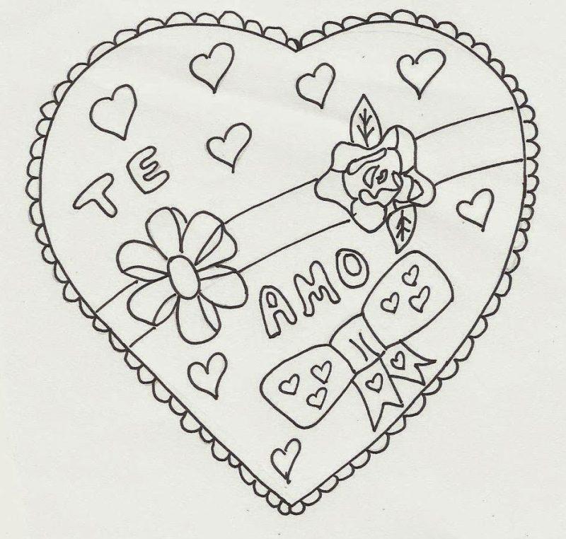 imágenes de amor para dibujar que digan te amo corazón con frase te amo