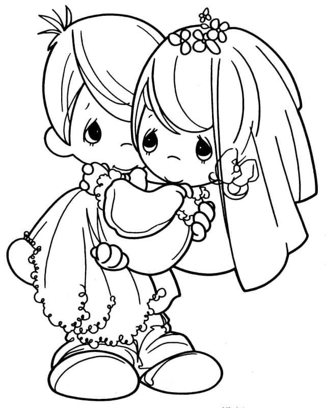 imágenes de amor tiernas para dibujar 2 niños se casados